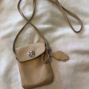 ROOTS Beige Sachet Bag